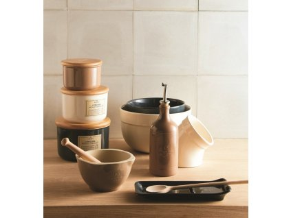 Odkládací miska na vařečky Emile Henry slonová kost 22,5 x 10 cm