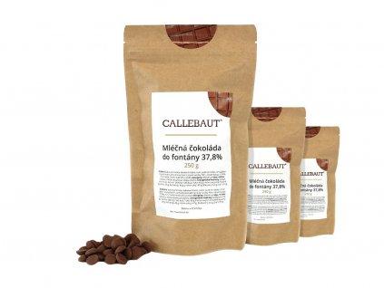 mléčná čokoláda do fontány callebaut 750 g