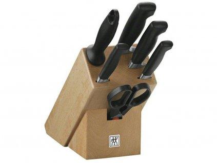 Sada nožů s blokem, ocílkou a nůžkami 7dílná FOUR STAR® ZWILLING