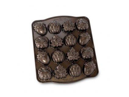 Forma na 16 kousků čajového pečiva Autumn Bundt® bronzová Nordic Ware
