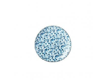 Mělký talíř Blue Daisy 19 cm