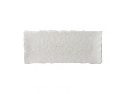 Střední hranatý talíř na sushi White Slab 29 x 12 cm 1