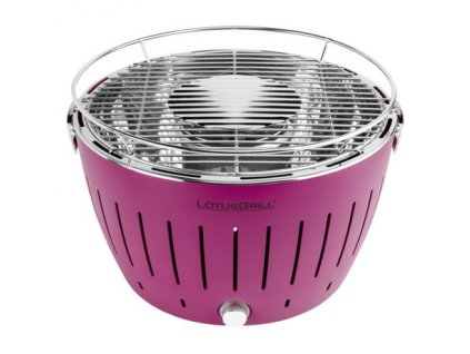 Bezkouřový gril LotusGrill XL fialový  + gelový podpalovač + taška + sada baterií