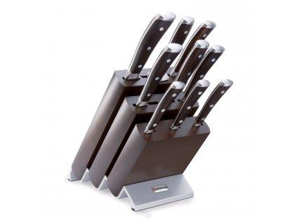 Sada nožů s blokem, vidličkou na maso a ocílkou 10dílná Ikon