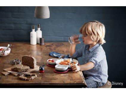 Set dvou větších šálků se lžičkami Mickey Mouse WMF