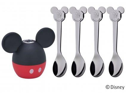 Slánka s lžičkami Mickey Mouse WMF 5 ks