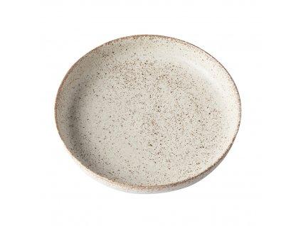 Mělký talíř s vysokým okrajem Fade 20 cm pískový