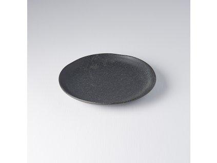 Mělký talíř s nepravidelným okrajem BB Black 24 cm černý