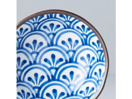 Malá miska 3 Petal Crest Indigo Ikat 11 cm 150 ml