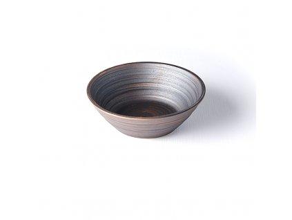 Mísa ve tvaru U metalická 16,5 cm