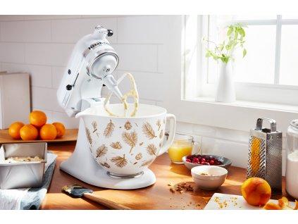 Keramická mísa KitchenAid 5KSM2CB 4,83 l květinová bílá