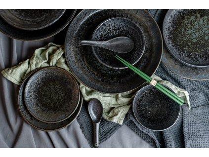Velký mělký talíř Black Pearl 29 cm