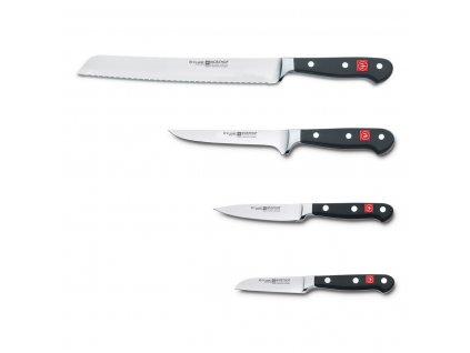 Sada nožů s hnědým blokem, ocílkou a nůžkami 13dílná Classic WÜSTHOF
