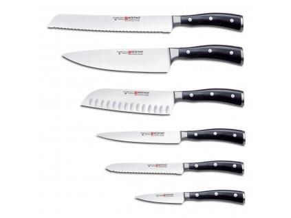 Sada nožů s blokem 7dílná Classic Ikon WÜSTHOF