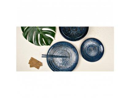 Kulatý talíř  Copper Swirl 25 cm