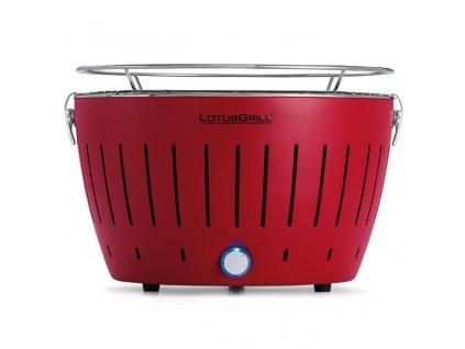 Bezkouřový gril LotusGrill červený  + gelový podpalovač + taška + sada baterií