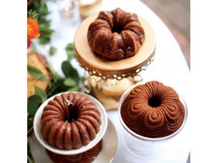 Forma na 4 malé bábovky Quartet Bundt® zlatá Nordic Ware