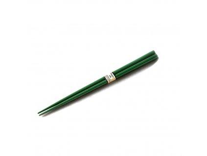 Lakované jídelní hůlky Chopsticks tmavě zelené