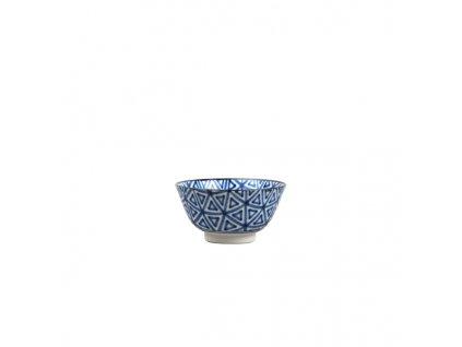 Střední miska Triangle Indigo Ikat 13 cm 350 ml