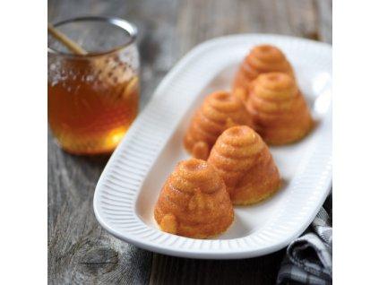 Forma na 6 včelích úlů Beehive Nordic Ware zlatá 6 x 120 ml