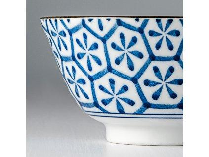 Střední miska Hexagon Indigo Ikat 13 cm 350 ml