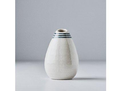 Váza ve tvaru kapky bílá 10 cm
