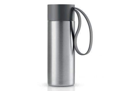 Nerezový termohrnek To Go s šedým uzávřem 0,35 l Eva Solo