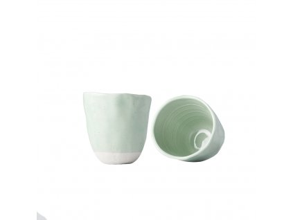 Hrnek bez ucha s nepravidelným okrajem Tea Cup světle zelený 300 ml MIJ