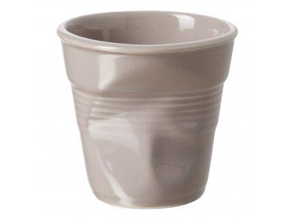 Kelímek na cappuccino 18 cl šedohnědý Froissés