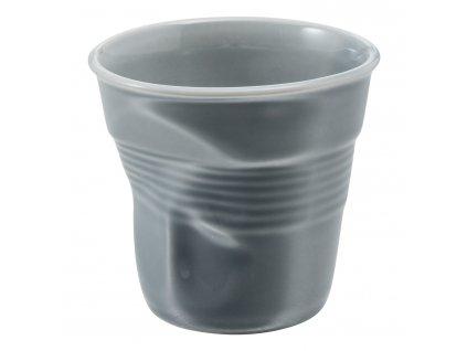 Kelímek na cappuccino 18 cl šedá Froissés