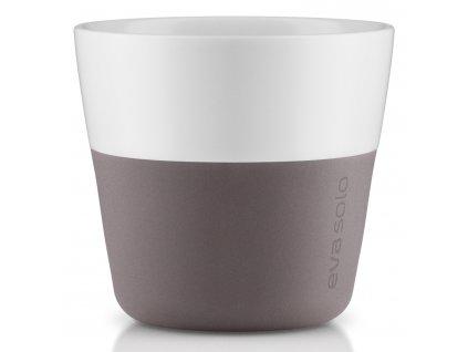 Termohrnky na kávu Lungo 230 ml 2 kusy šedé