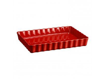 Hranatá koláčová forma Burgundy červená 24 × 34 cm