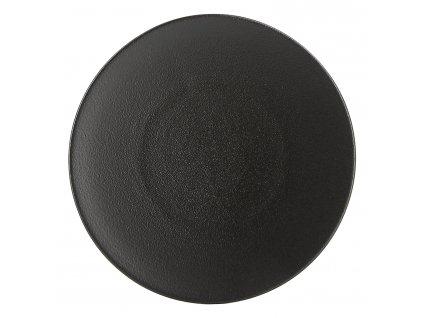 Talíř dezertní O 21,5 cm matná černá Equinoxe