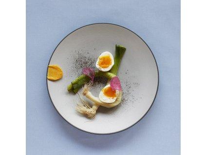 Talíř dezertní O 21,5 cm pepřová bílá Equinoxe REVOL
