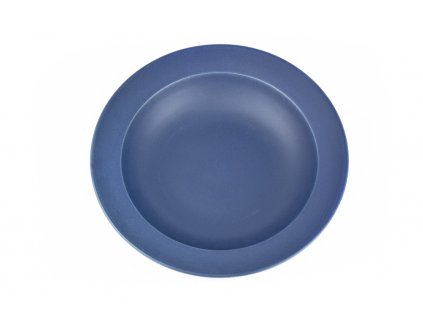 Hluboký talíř s širokým okrajem 21,5 x 4,5 cm inkoustově modrý