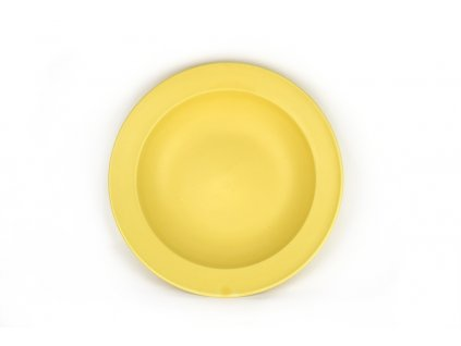 Hluboký talíř s širokým okrajem 21,5 x 4,5 cm žlutý