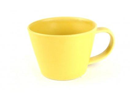Hrnek na čaj žlutý 250 ml
