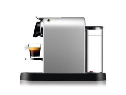 Kávovar na kapsle KRUPS Nespresso Citiz stříbrný  + 14 nespresso kapslí ZDARMA
