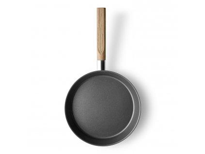 Pánev s dřevěnou rukojetí Nordic kitchen nerez O 24 cm Eva Solo