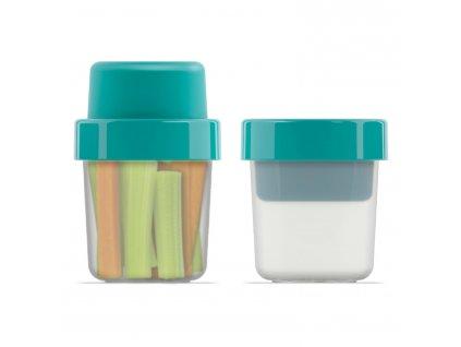 Svačinový box 100/240 ml modrozelený GoEat™ Joseph Joseph