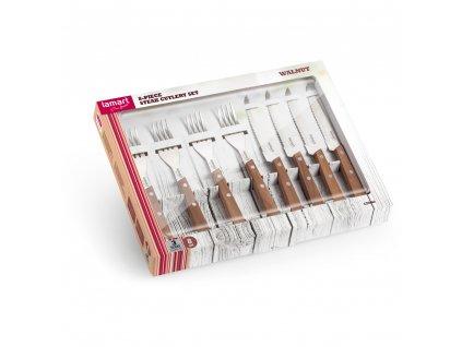 Set steakových příborů LT2062 Walnut Lamart 8 ks