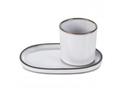 Kelímek na kávu/čaj bílý White Cumulus CARACTERE REVOL