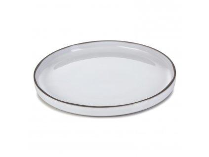 Jídelní talíř bílý White Cumulus CARACTERE REVOL