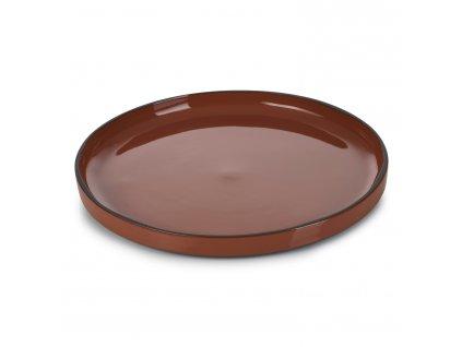 Jídelní talíř skořicový Cinnamon CARACTERE REVOL