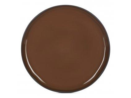 Jídelní talíř hnědý Tonka CARACTERE REVOL
