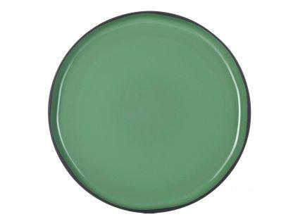 Velký jídelní talíř mátový Mint CARACTERE REVOL