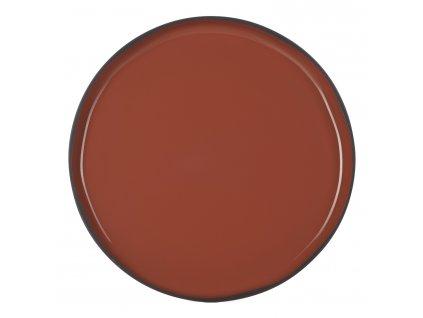 Velký jídelní talíř skořicový Cinnamon CARACTERE REVOL
