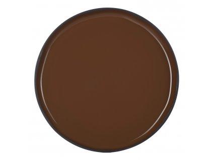 Velký jídelní talíř hnědý Tonka CARACTERE REVOL