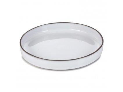 Jídelní talíř GOURMET bílý White Cumulus CARACTERE REVOL