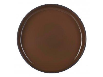 Jídelní talíř GOURMET hnědý Tonka CARACTERE REVOL